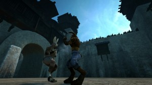 Rabbits Fighting in the Overgrowth videogame