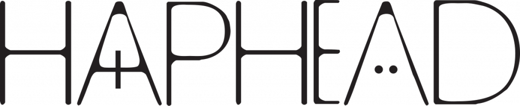 Haphead Logotype Black on Transparent