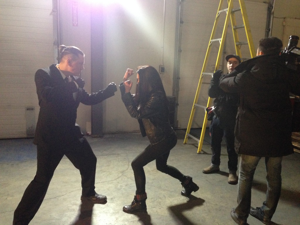 nick-and-tony-lighting-fight-scene-SET-PHOTO