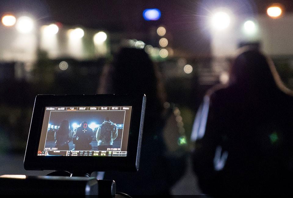 The scene behind the screen