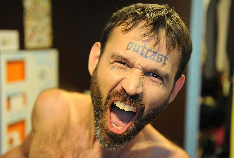David Straus, delighted with his new tat