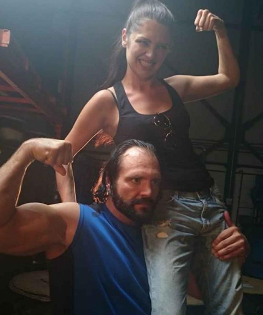 WWE wrestler Devon Nicholson with Elysia
